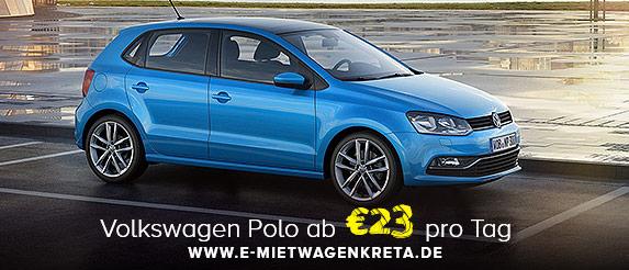 VW Polo Angebot Chania Mietwagen