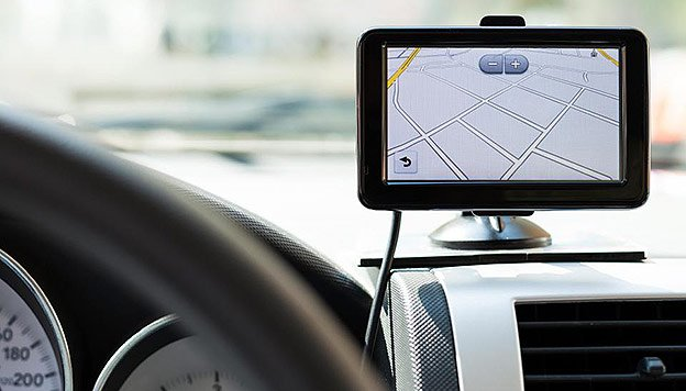 Kreta mit einem GPS-Navigationssystem