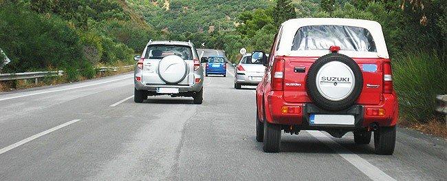 Fahrspur in Kreta