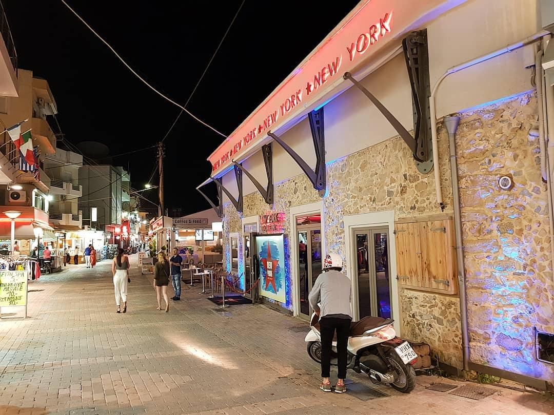 Hersonissos Strand Strasse