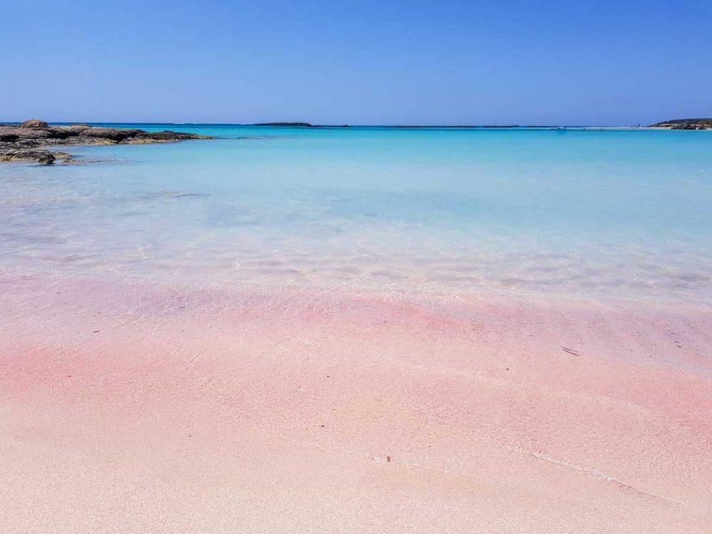 Der weiß-rosa Strand von Elafonisi