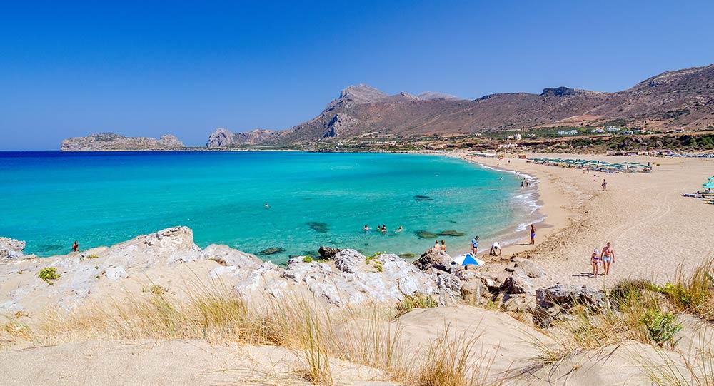 Der lange Strand von Falassarna
