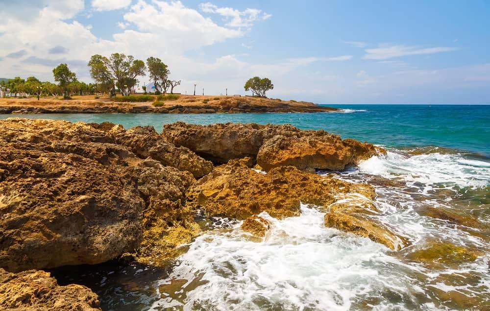 Felsen am Meeresufer bei Gouves