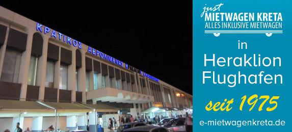 Leihwagen in Flughafen  Kreta Heraklion